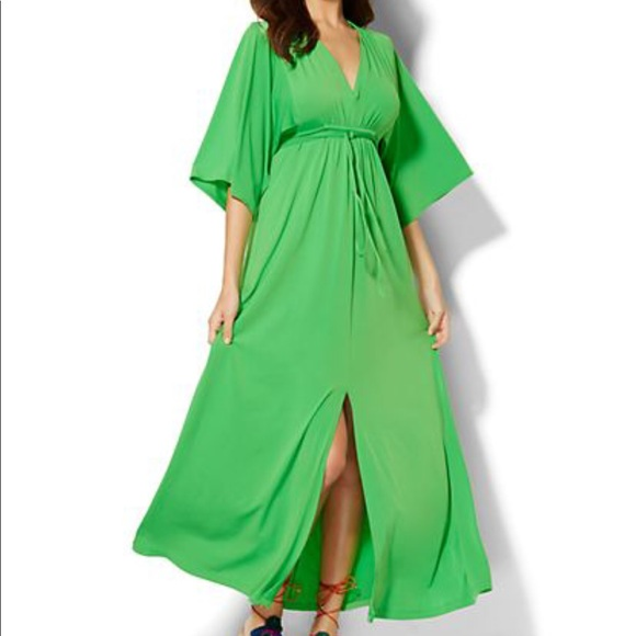 New York Company Dresses Green Kimono Maxi Dress From Ny Co